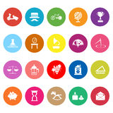 Vintage item flat icons on white background Stock Photos