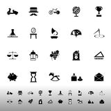 Vintage item icons on white background Royalty Free Stock Photography