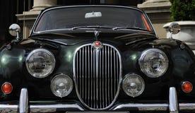 Vintage Jaguar vu sur la réunion annuelle des oldtimers Photos stock