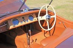 Vintage jaguar xk120 sports Royalty Free Stock Photos