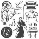 Vintage Japan Elements Set Royalty Free Stock Photography