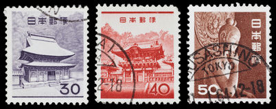 Vintage Japanese postage stamps Royalty Free Stock Photography