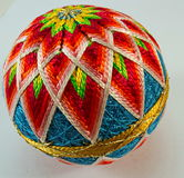 Vintage japanese knitted silk ball Royalty Free Stock Photo