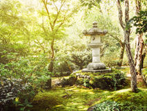 Vintage Japanese stone lantern Stock Photos