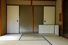 Vintage Japanese zen house interior stock images