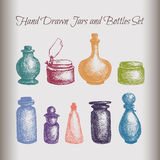 Vintage jars and bottles Royalty Free Stock Photography