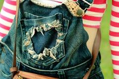 Vintage Jean bib Stock Images