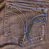 Vintage jean pocket with pattern Royalty Free Stock Photos