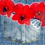 Vintage jeans Stock Photo