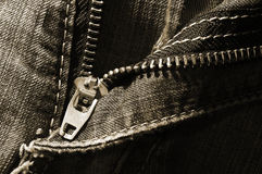 Vintage jeans zip background Royalty Free Stock Photography