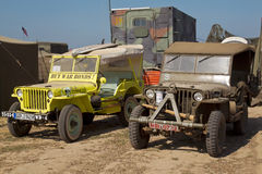 Vintage Jeeps Royalty Free Stock Images