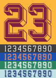 Vintage Jersey font numbers Royalty Free Stock Photography