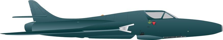 Vintage Jet Fighter Stock Photo