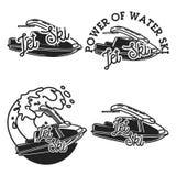 Vintage jet ski emblems Royalty Free Stock Images