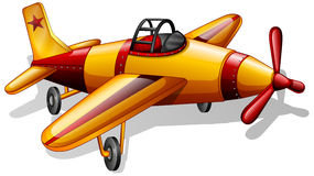 A vintage jetplane. Illustration of a vintage jetplane on a white background Stock Photography