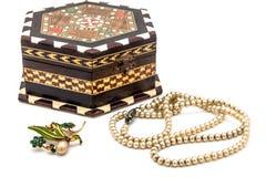 Vintage jewel box Stock Photo
