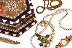 Vintage jewel box Royalty Free Stock Photo
