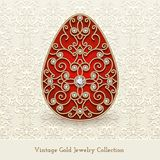 Vintage jewelry gold Easter Egg Stock Images