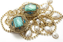 Vintage jewelry royalty free stock photo