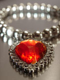 Vintage Jewelry. Red hart Stock Images