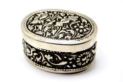 Vintage Jewelry Box Isolated royalty free stock photo