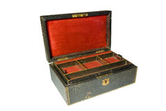 Vintage jewelry box isolated on white Royalty Free Stock Photo