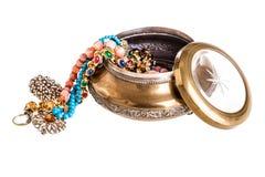 Vintage jewelry box Royalty Free Stock Photo