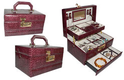 Vintage jewelry box for  women's  accessories Stock Photography