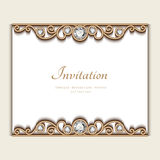 Vintage jewelry card, invitation template Stock Photo