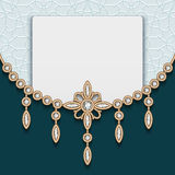 Vintage jewelry gold background Stock Images
