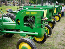 Vintage John Deere Antique Tractors Royalty Free Stock Photography