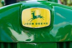 Vintage John Deere Tractor Trademark y logotipo imagenes de archivo