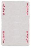 Vintage joker playing card paper background Royalty Free Stock Image