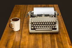 Vintage journalist`s desk. – Stock Image Royalty Free Stock Photography