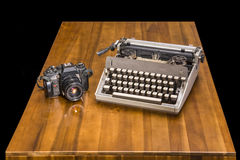 Vintage journalist`s desk Stock Photos