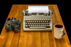 Vintage journalist`s desk Stock Images