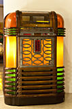 Vintage juke box. Old vintage italian juke box Royalty Free Stock Photo