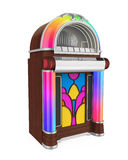 Vintage Jukebox Radio. Isolated on white background. 3D render vector illustration