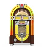 Vintage Jukebox Radio Isolated. On white background. 3D render vector illustration