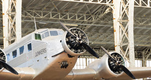Vintage Junkers Airplane Twin Wings No Frame Stock Photography