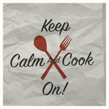 Vintage keep calm and cook on poster Stock Photo