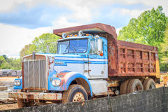 Vintage Kenworth Dump Truck Royalty Free Stock Images