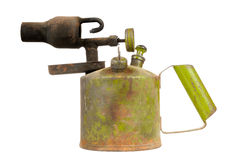 Vintage Kerosene Blowtorch Isolated on White Background Royalty Free Stock Photography