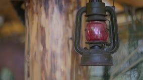 Vintage kerosene lamp. stock footage