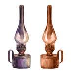 Vintage  kerosene lamp Royalty Free Stock Images