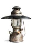 Vintage kerosene oil lantern lamp on isolate Background Stock Images