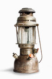 Vintage kerosene oil lantern lamp on isolated Background Royalty Free Stock Images