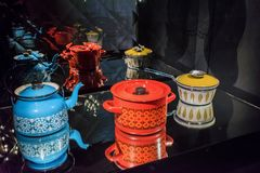 Vintage kettle, pot and saucepan
