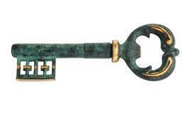 Vintage key. Isolated on white Royalty Free Stock Photography