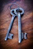 Vintage key Stock Photos